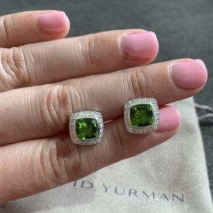 David Yurman Albion Earrings Peridot & Diamonds